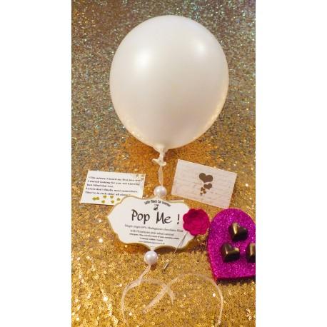 Himalayan Pink Salt Caramel Heart Balloon