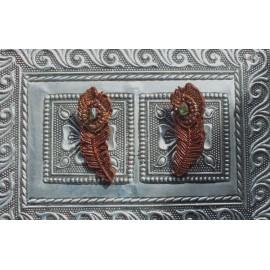Peacock Chocolate Earrings