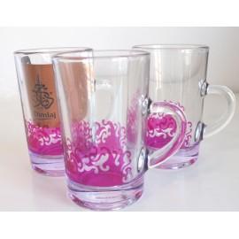 Dimlaj Purple Glass Cup Set
