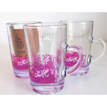 Dimlaj Purple Glass Cup Set