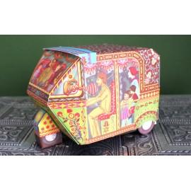 Printed Paper DIY Rickshaw Box