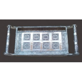 Mughal Decorative Large Silver Tray