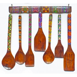 Hand Painted Wooden Spoons Set