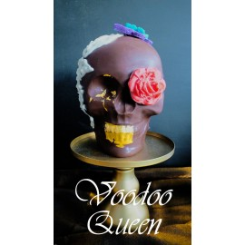 Voodoo Queen Chocolate Skull