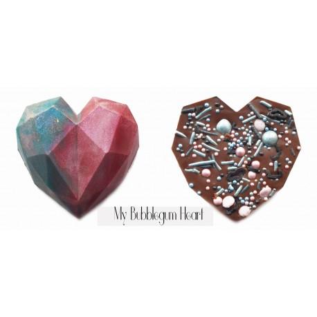 Valentine's Gift Set - Heat chocolate, Swarovski Element Pendant & card