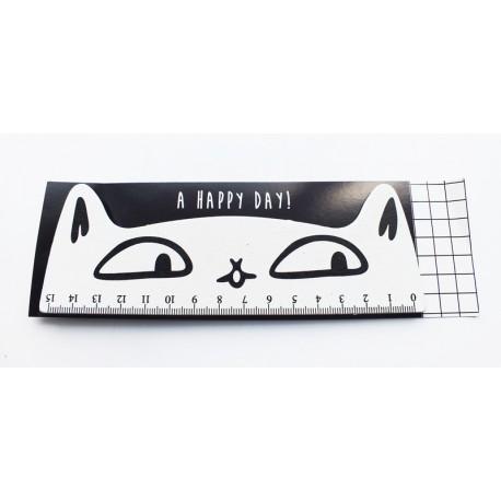 Cat Wooden Ruler