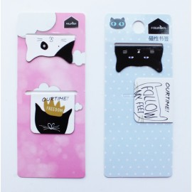 Cat Magnetic Bookmarks Set