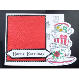 Mad Hatter Tea Party Greeting card