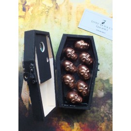 Rest In Peace Coffin filled with Chocolate Skulls- Limited Edition