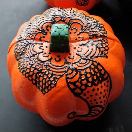 Handpainted Henna Pumpkins