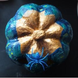 Handmade Peacock Halloween Pumpkin
