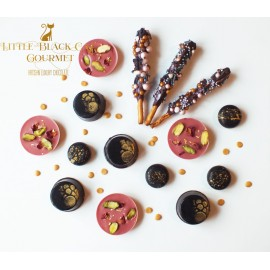 Gold Dark and Ruby Chocolate and Cookie Assortment Box