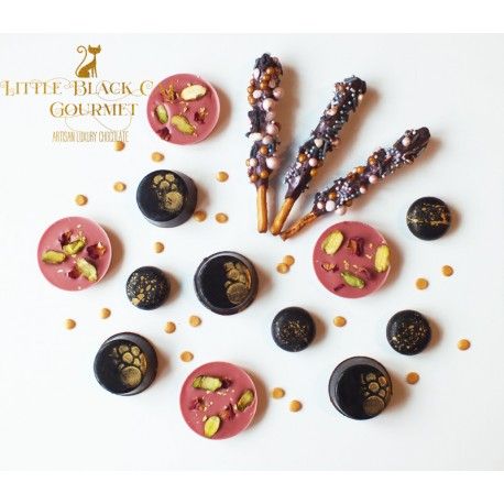 Gold Dark and Ruby Chocolate and Cookie Assortment