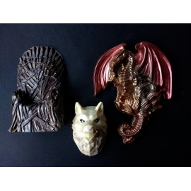 Iron Throne Wolf & Dragon Chocolate