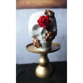 Rose & Bees Chocolate Skull