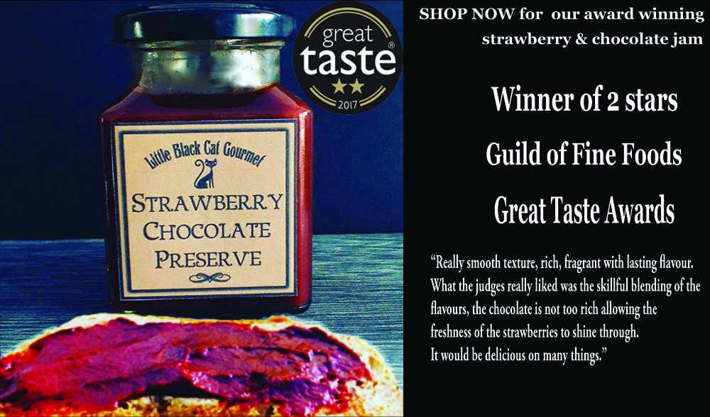 Great Taste Award winning Strawberry and Chocolate Jam Preserve