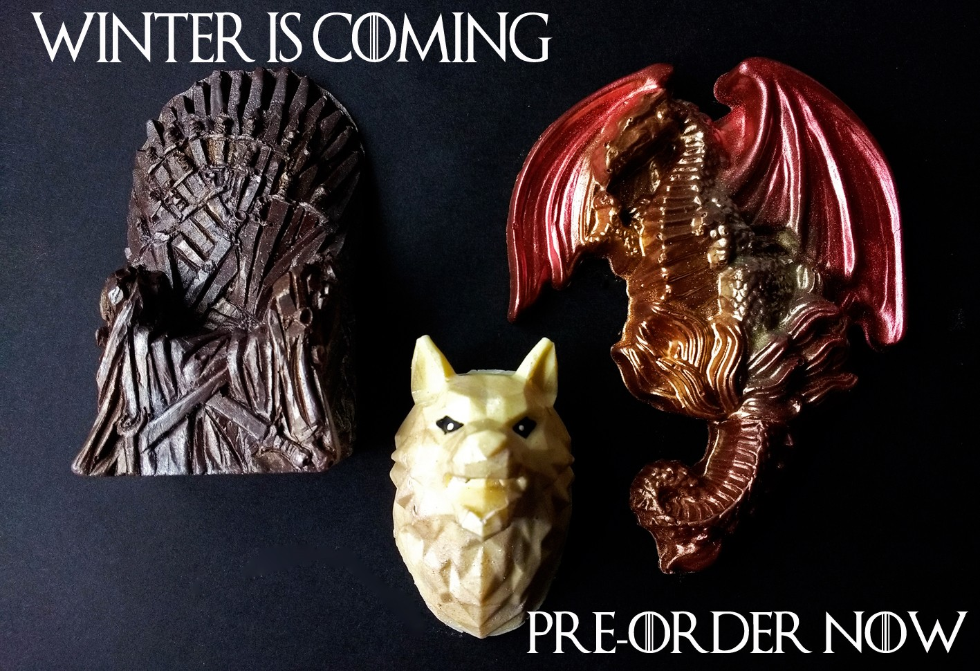 Iron Throne, Wolf and Dragon Chocolate